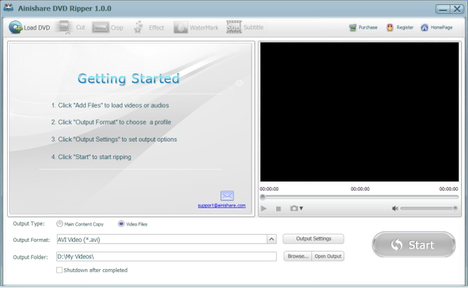 Ainishare Free DVD Ripper Screenshot 1