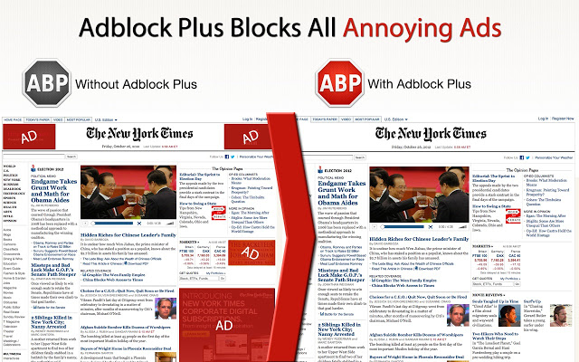 Adblock Plus for Chrome Screenshot 1