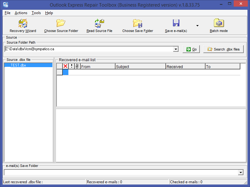 Outlook Express Repair Toolbox Screenshot 6