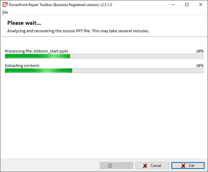 PowerPoint Repair Toolbox Screenshot 3
