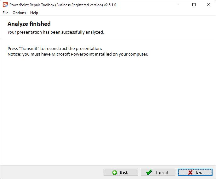 PowerPoint Repair Toolbox Screenshot 4