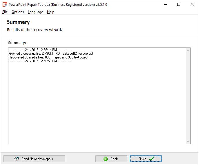 PowerPoint Repair Toolbox Screenshot 5