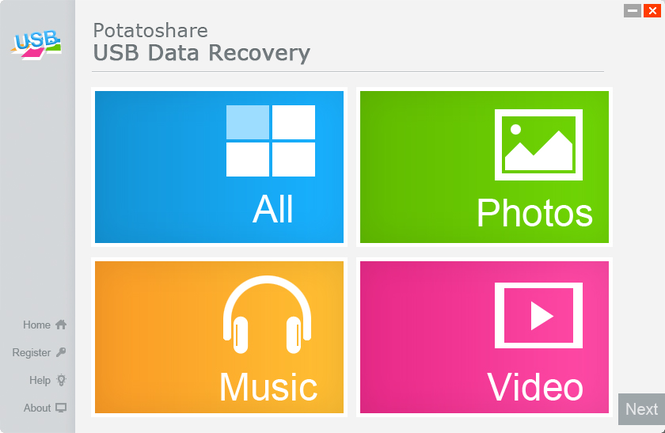 USB Data Recovery Screenshot 1