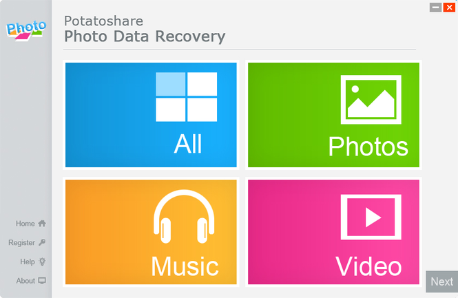 Photo Data Recovery Screenshot