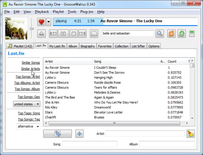 GrooveWalrus Screenshot 2