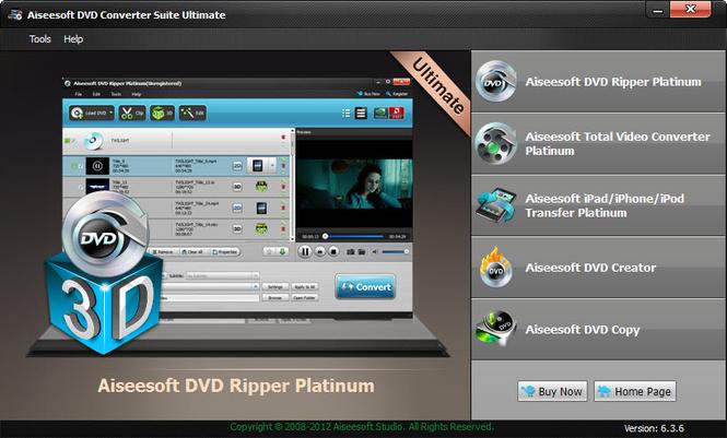 Aiseesoft DVD Converter Suite Ultimate Screenshot