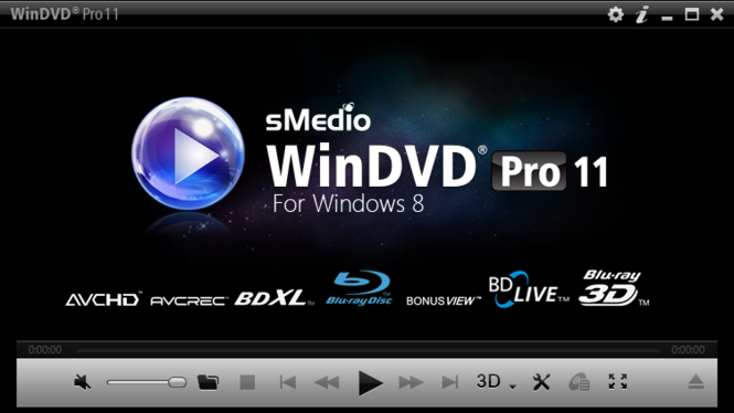 WinDVD PRO 11 for Windows 8 Screenshot 1