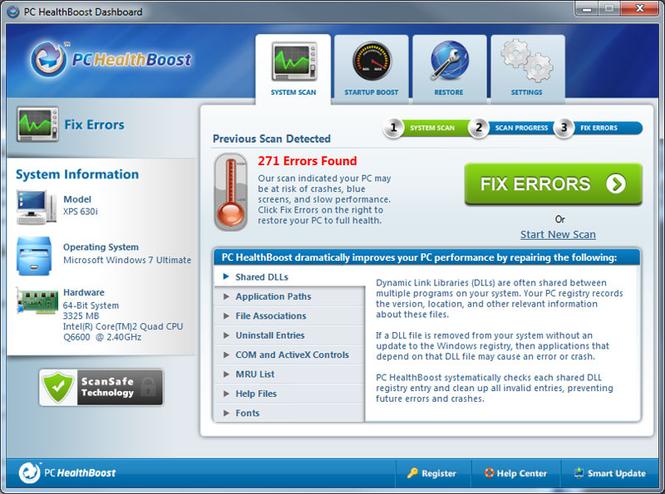 PC HealthBoost Screenshot 1