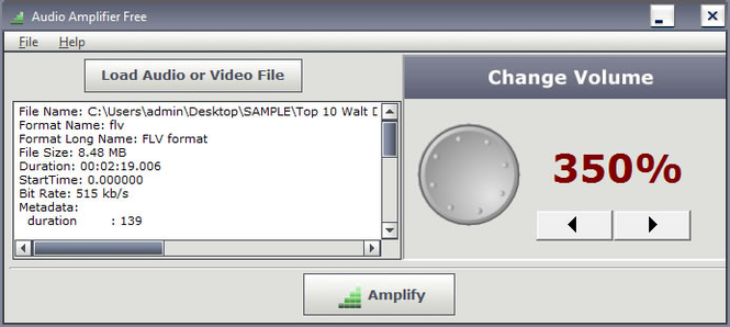 Audio Amplifier Free Screenshot