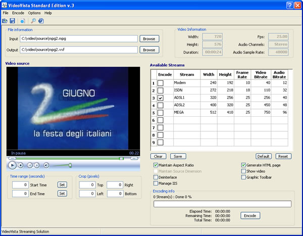 VideoVista Standard Edition Screenshot