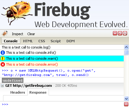 Firebug Lite Screenshot