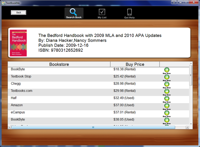 TextbookMe Cheap Textbooks Screenshot
