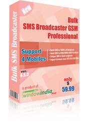 Bulk SMS Broadcaster GSM Professional Screenshot 1