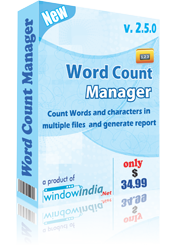 Word Count Manager Screenshot
