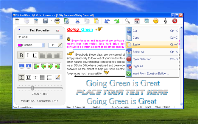 SSuite Office - QT Writer Express Screenshot 1