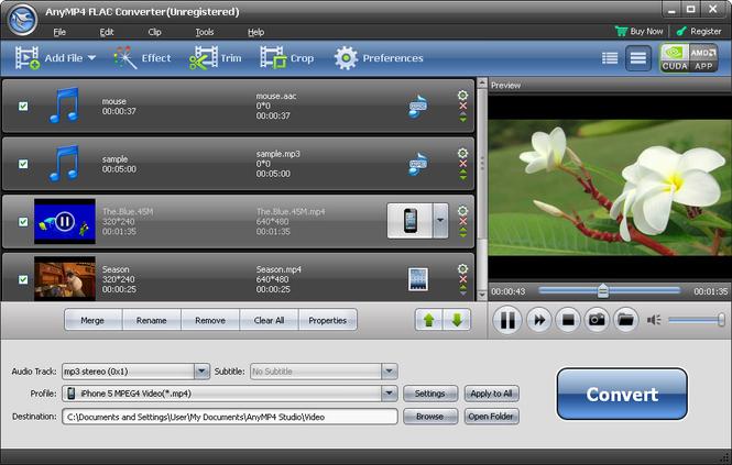 AnyMP4 FLAC Converter Screenshot 1