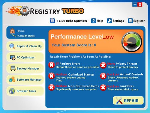 Registry Turbo Screenshot