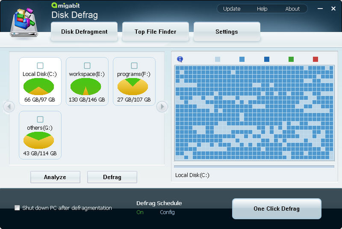 Amigabit Disk Defrag Screenshot