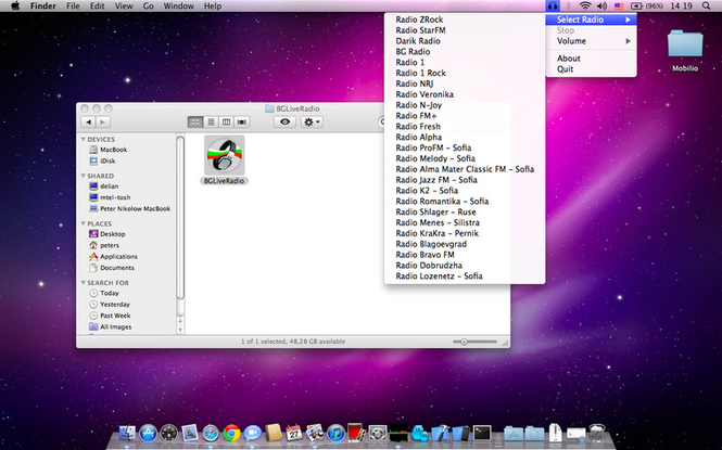 BGLiveRadio-OSX Screenshot 1