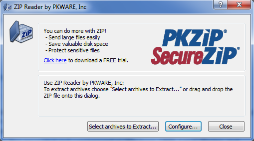 ZIP Reader Screenshot