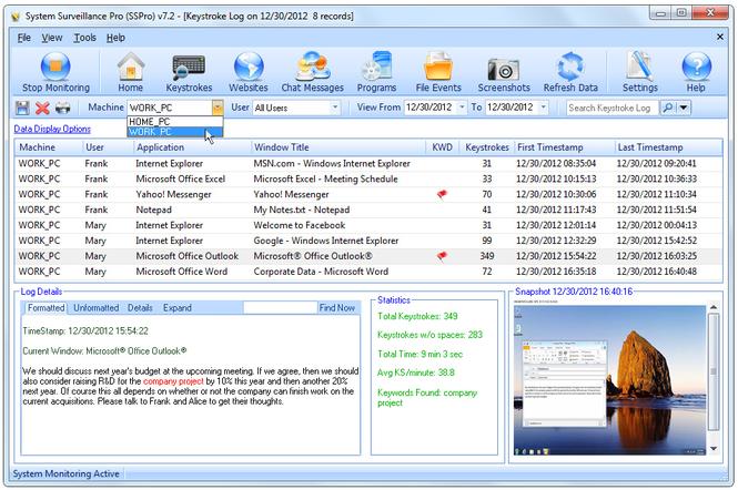 System Surveillance Pro Screenshot