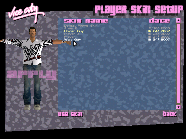 Grand Theft Auto: Vice City Skin Pack Screenshot