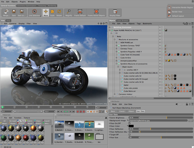 Cinema 4D Screenshot