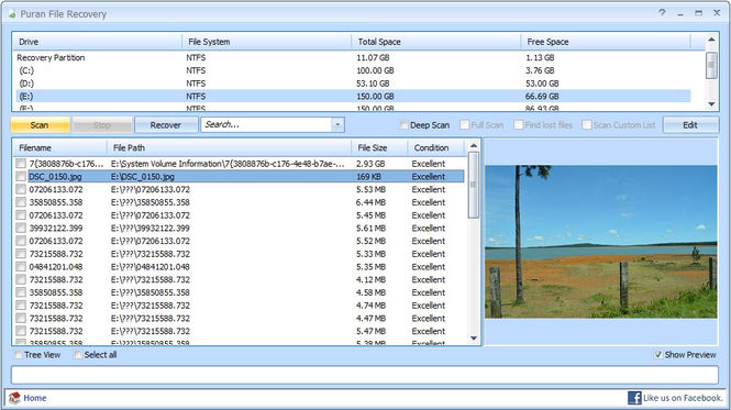 Puran File Recovery Screenshot