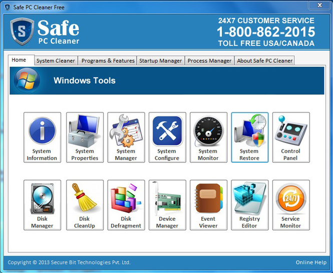 Safe PC Cleaner Free Screenshot 1