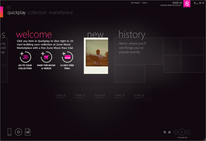 Zune Software Screenshot