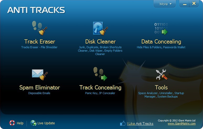 Anti Tracks Free Edition Screenshot