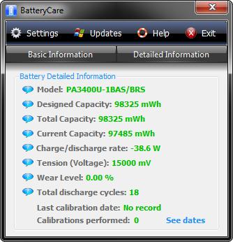 BatteryCare Screenshot 1