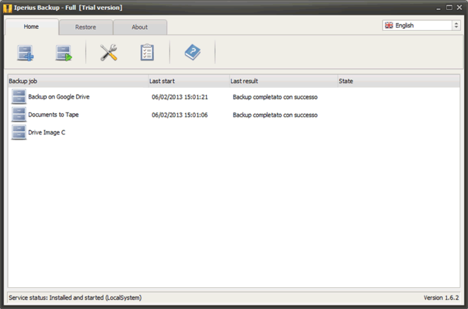 Iperius Backup Screenshot