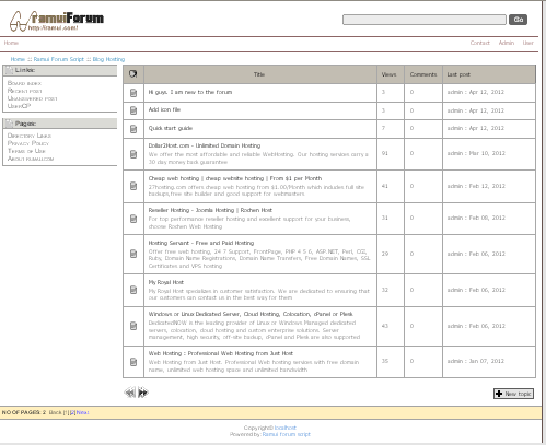 Ramui forum script Screenshot 1