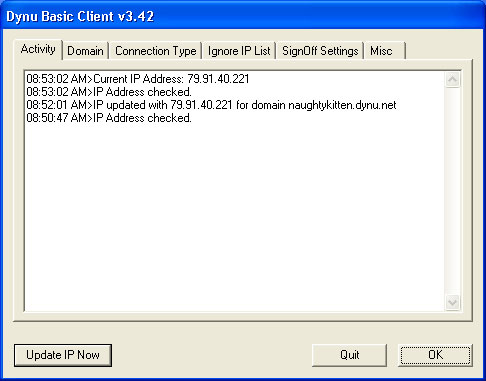 Dynu Basic Dynamic DNS Client Screenshot