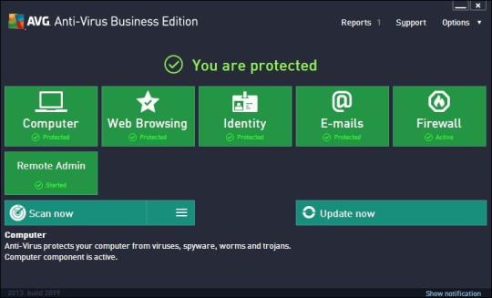 AVG AntiVirus Business Edition Screenshot