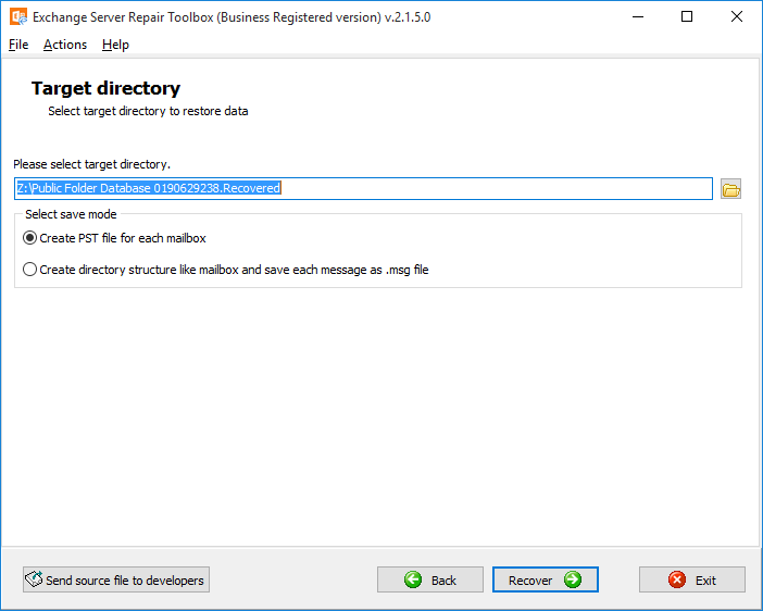 Exchange Server Repair Toolbox Screenshot 5