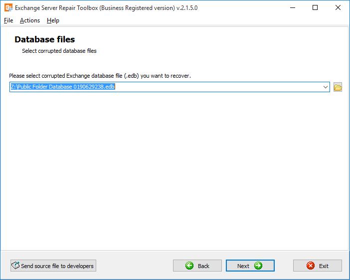 Exchange Server Repair Toolbox Screenshot 3