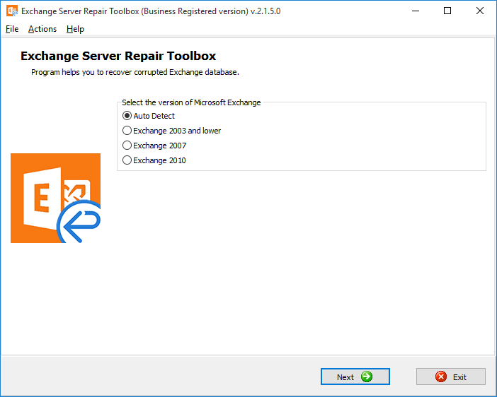 Exchange Server Repair Toolbox Screenshot 2