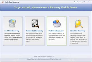 Hodo Data Recovery Screenshot