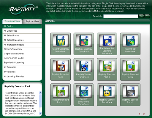 Raptivity Active Learning TurboPack Screenshot