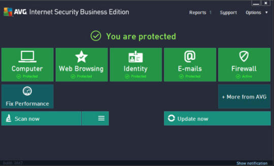 AVG Internet Security Business Edition Screenshot