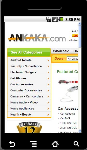 Wholesale Electronics Screenshot