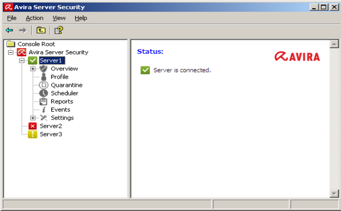 Avira Endpoint Security Screenshot