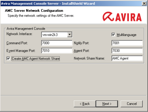 Avira Management Console Screenshot