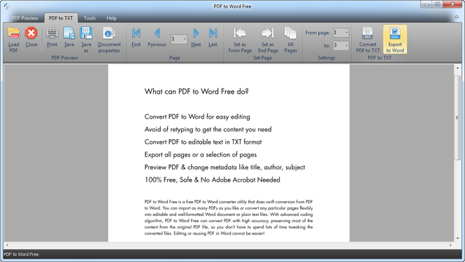 PDF to Word Free Screenshot