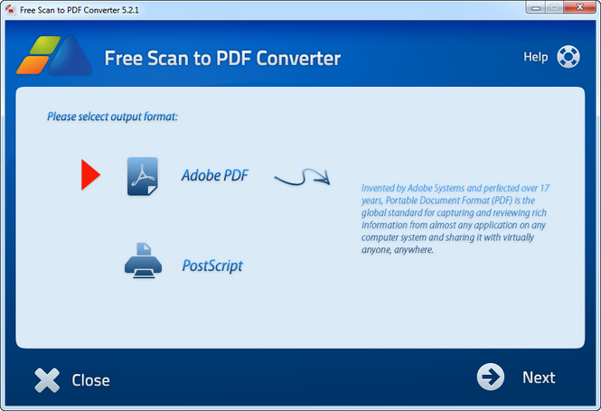 Free Scan to PDF Converter Screenshot 1