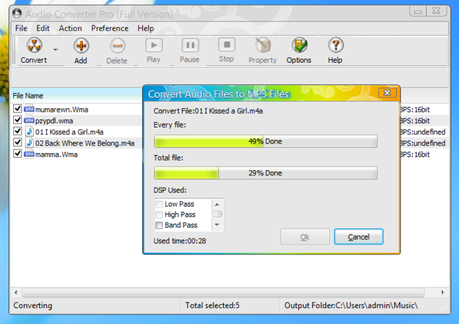 MP3 Audio Converter Pro Screenshot