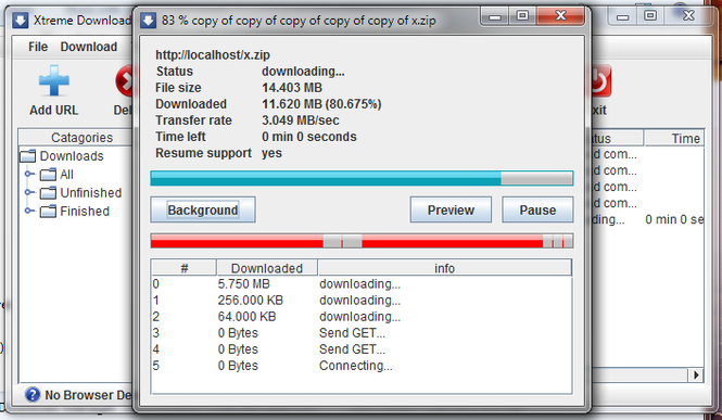Xtreme download manager Screenshot