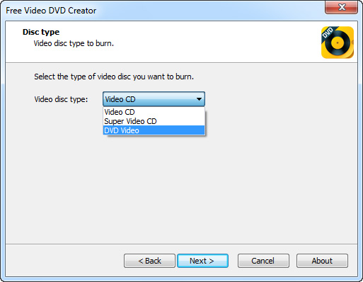Free Video DVD Creator Screenshot